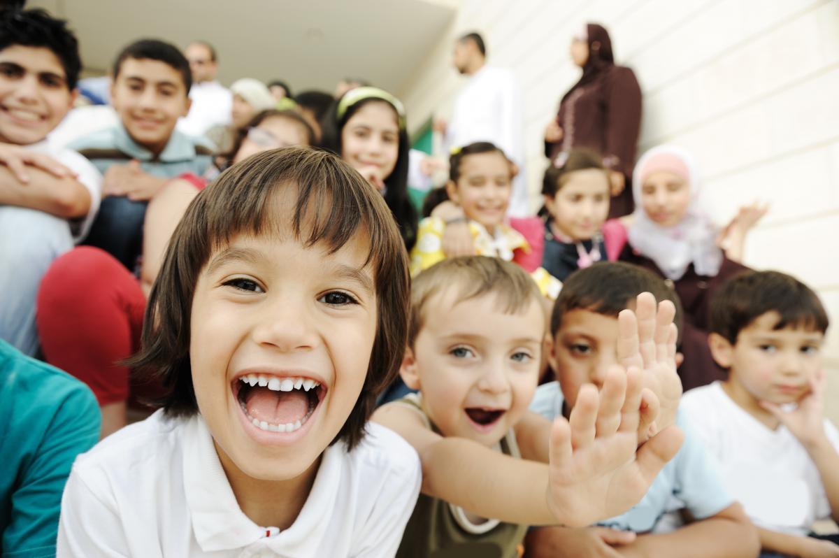 crowd of children